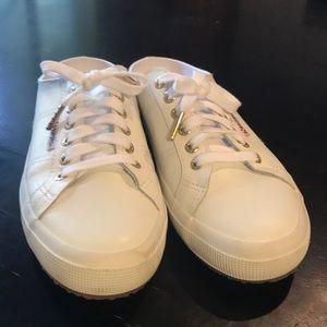 New Superga  41.5 /8.5 Women's White Slip Ons 👟🌟